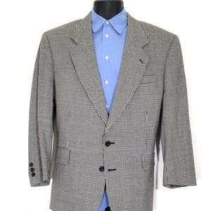 Oscar de la Renta Houndstooth 2 Button Sport Coat